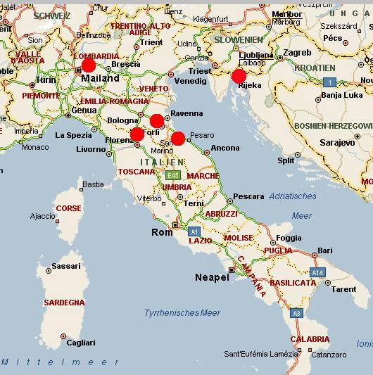 Rennstrecken Italien